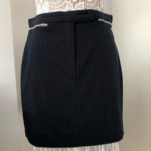 Pinstriped mini skirt by Rampage
